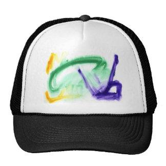 Diseño abstracto de la pintura original gorra