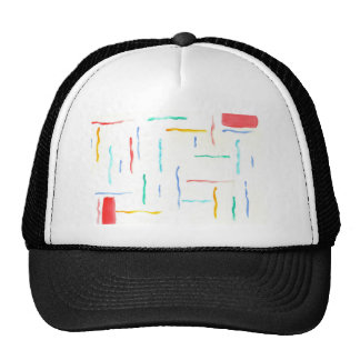 Diseño abstracto de la pintura original gorras de camionero