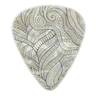 Diseño abstracto del modelo púa de guitarra celuloide nacarado