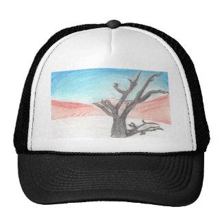 Diseño abstracto del paisaje de la pintura gorra