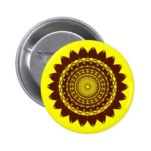 Diseño abstracto del vector del girasol (amarillo/ pin