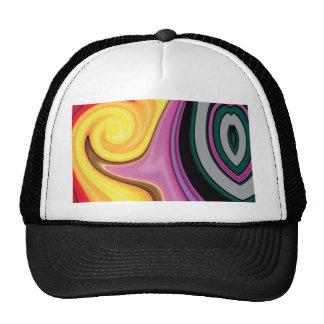 Diseño abstracto en remolinos de la pintura gorros