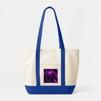 Diseño abstracto púrpura bolsa