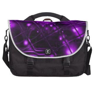 Diseño abstracto púrpura bolsa de ordenador