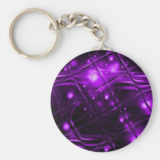 Diseño abstracto púrpura llavero personalizado