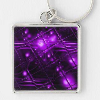 Diseño abstracto púrpura llavero