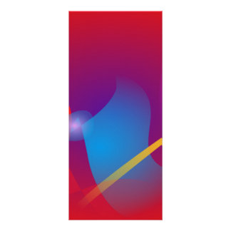 Diseño abstracto simple rojo vivo tarjeta publicitaria a todo color