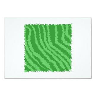 Diseño abstracto verde invitación 8,9 x 12,7 cm