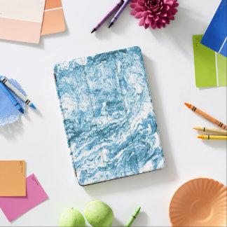 Diseño abstracto veteado el | azul y blanco cubierta de iPad air