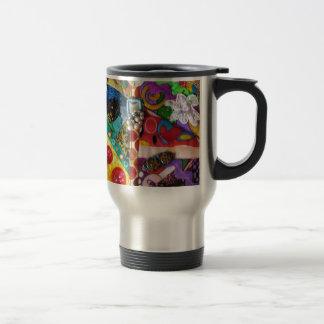 Diseño acolchado remiendo artsy de las técnicas mi taza