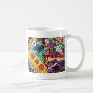 Diseño acolchado remiendo artsy de las técnicas mi tazas de café