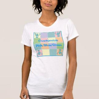 Diseño adaptable azul del remiendo camisetas