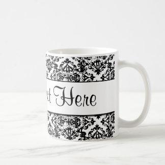 Diseño adaptable blanco y negro taza de café