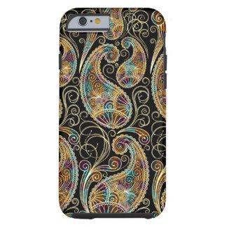 Diseño adornado de Paisley del vintage colorido Funda Para iPhone 6 Tough
