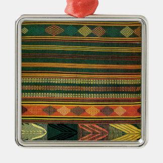 Diseño africano #10 @ Stylnic Adorno Cuadrado Plateado