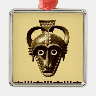 Diseño africano #11 @ Stylnic Adorno Cuadrado Plateado