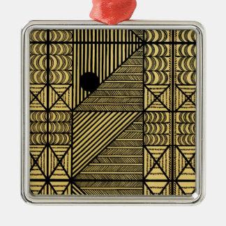 Diseño africano #12 @ Stylnic Adorno Cuadrado Plateado