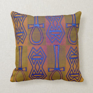 Diseño africano de los símbolos cojines