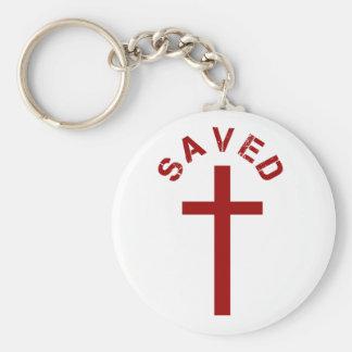 Diseño ahorrado cristiano de la Cruz Roja y del Llavero Redondo Tipo Chapa