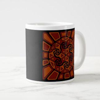 Diseño alegre de Sun Taza De Café Gigante