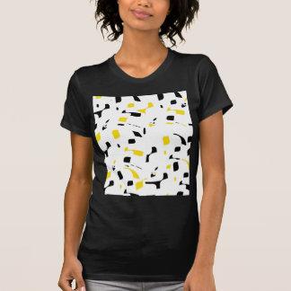 Diseño amarillo, blanco y negro simple camiseta