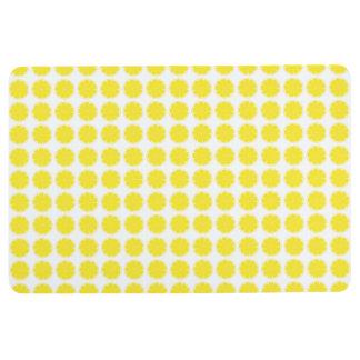Diseño amarillo brillante de la rebanada de los alfombra