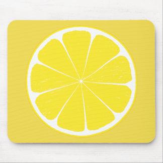 Diseño amarillo brillante de la rebanada de los alfombrilla de ratón