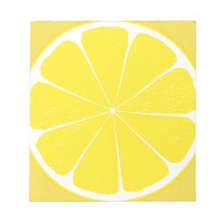 Diseño amarillo brillante de la rebanada de los bloc de notas