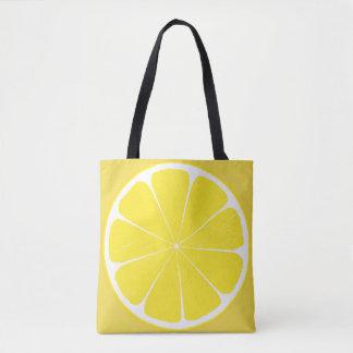 Diseño amarillo brillante de la rebanada de los bolsa de tela