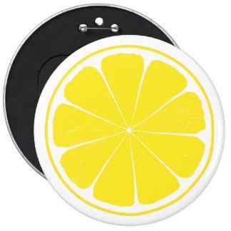 Diseño amarillo brillante de la rebanada de los chapa redonda de 15 cm