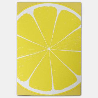 Diseño amarillo brillante de la rebanada de los notas post-it®