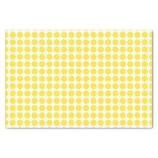 Diseño amarillo brillante de la rebanada de los papel de seda