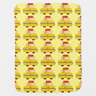 Diseño amarillo del taxi mantitas para bebé