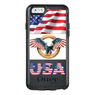 diseño americano del caso del iphone funda otterbox para iPhone 6/6s