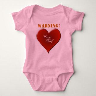 Diseño amonestador del ladrón del corazón del body para bebé