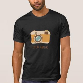 diseño análogo de la cámara de 35m m camisetas
