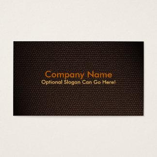 Diseño anaranjado de la tarjeta de visita de la