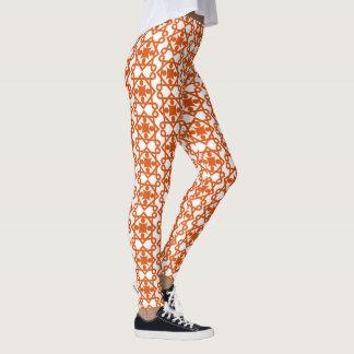 Diseño anaranjado del extracto del vintage leggings