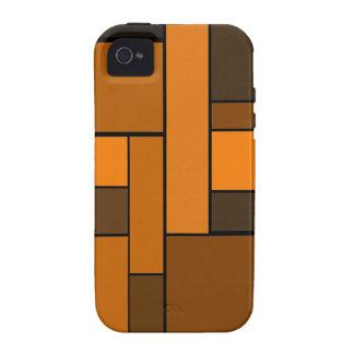 Diseño anaranjado oscuro del entarimado iPhone 4/4S funda