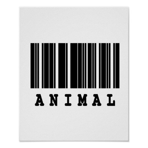 diseño animal del código de barras posters