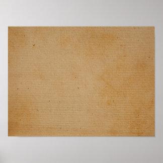 Diseño antiguo de la textura del fondo del papel póster