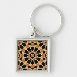 Diseño árabe #3 en Emporio Moffa Llavero Cuadrado Plateado