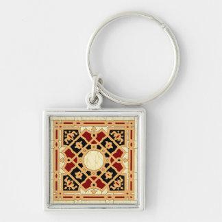 Diseño árabe #9 en Emporio Moffa Llavero Cuadrado Plateado
