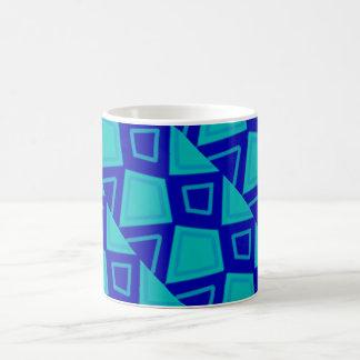 Diseño artsy azul taza de café