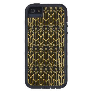 Diseño asombroso del art déco del Negro-Oro Funda Para iPhone SE/5/5s