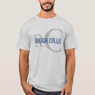 Diseño áspero del monograma de la raza del collie camiseta