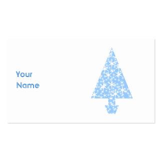 Diseño azul claro del árbol de navidad plantillas de tarjetas personales