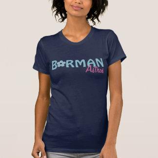 Diseño azul de la camiseta de la flor de Borman