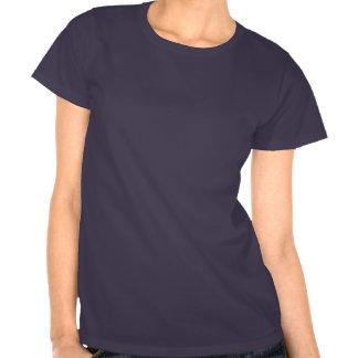 Diseño azul de la camiseta de la flor de Borman As
