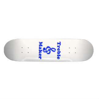 diseño azul de la música del clef agudo del fabric tabla de skate